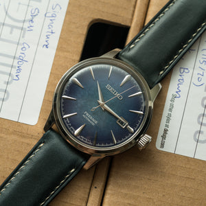 Navy Horween Chromexcel Signature Strap
