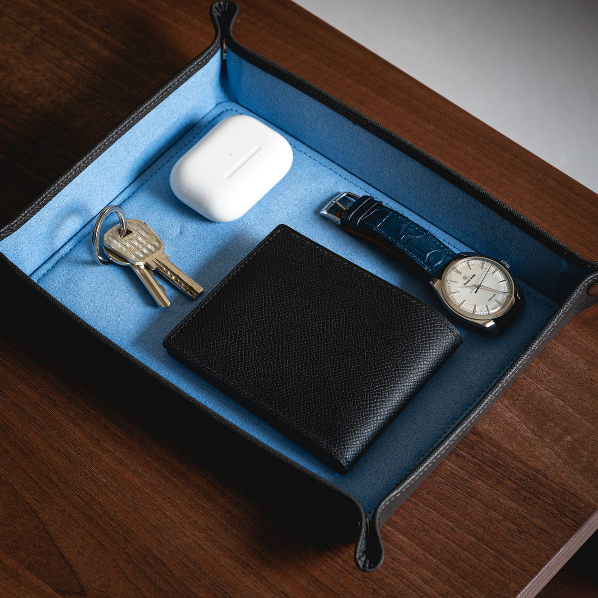 Valet Tray - Grey / Sky Blue