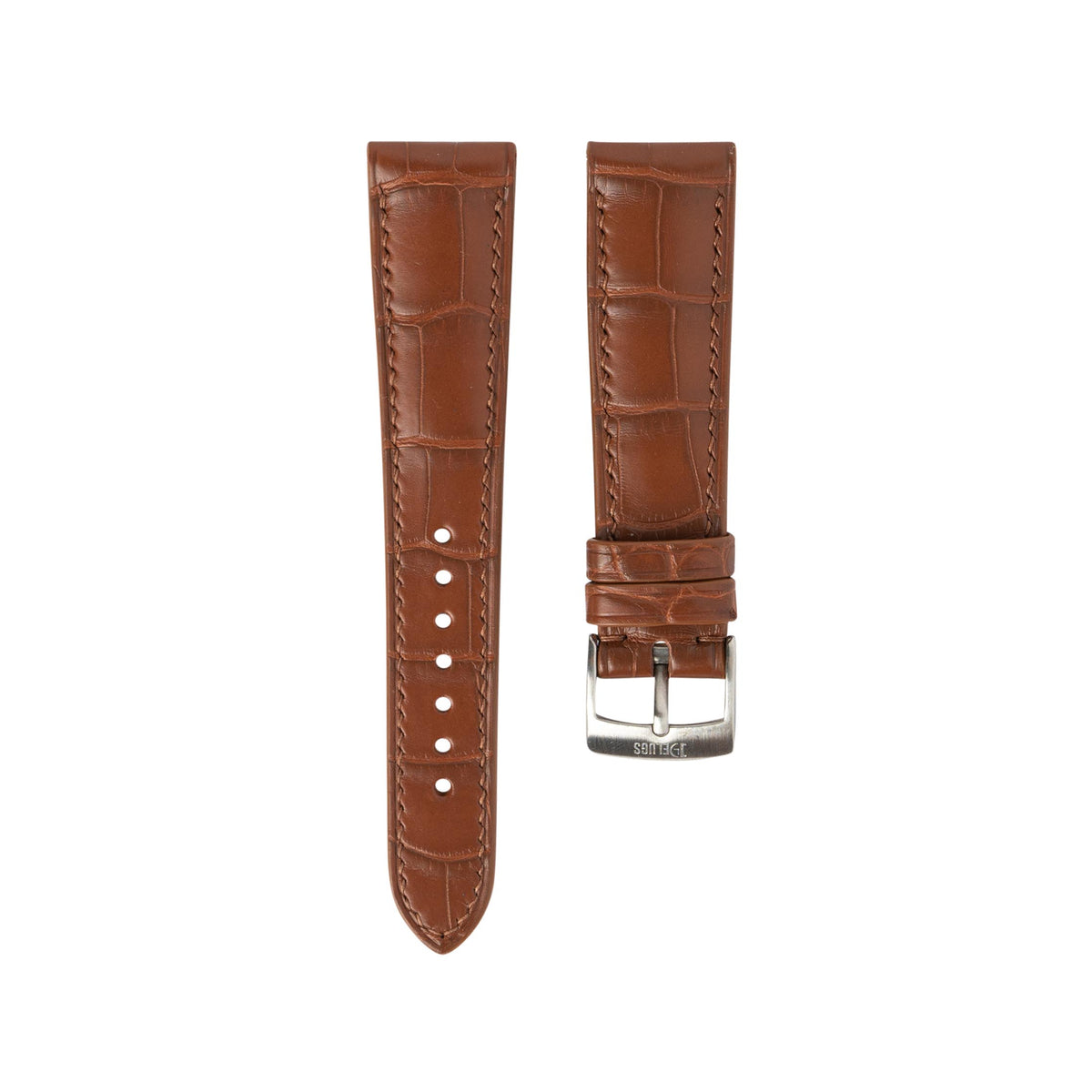 Matte Cognac Alligator Signature Strap