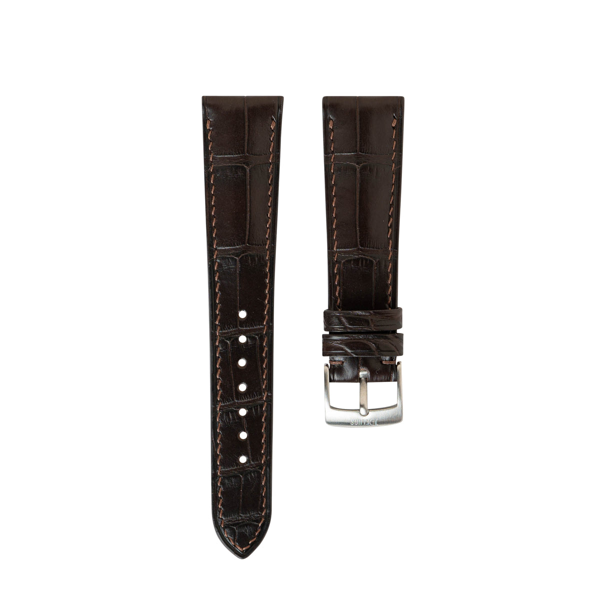 Matte Dark Brown Alligator Signature Strap