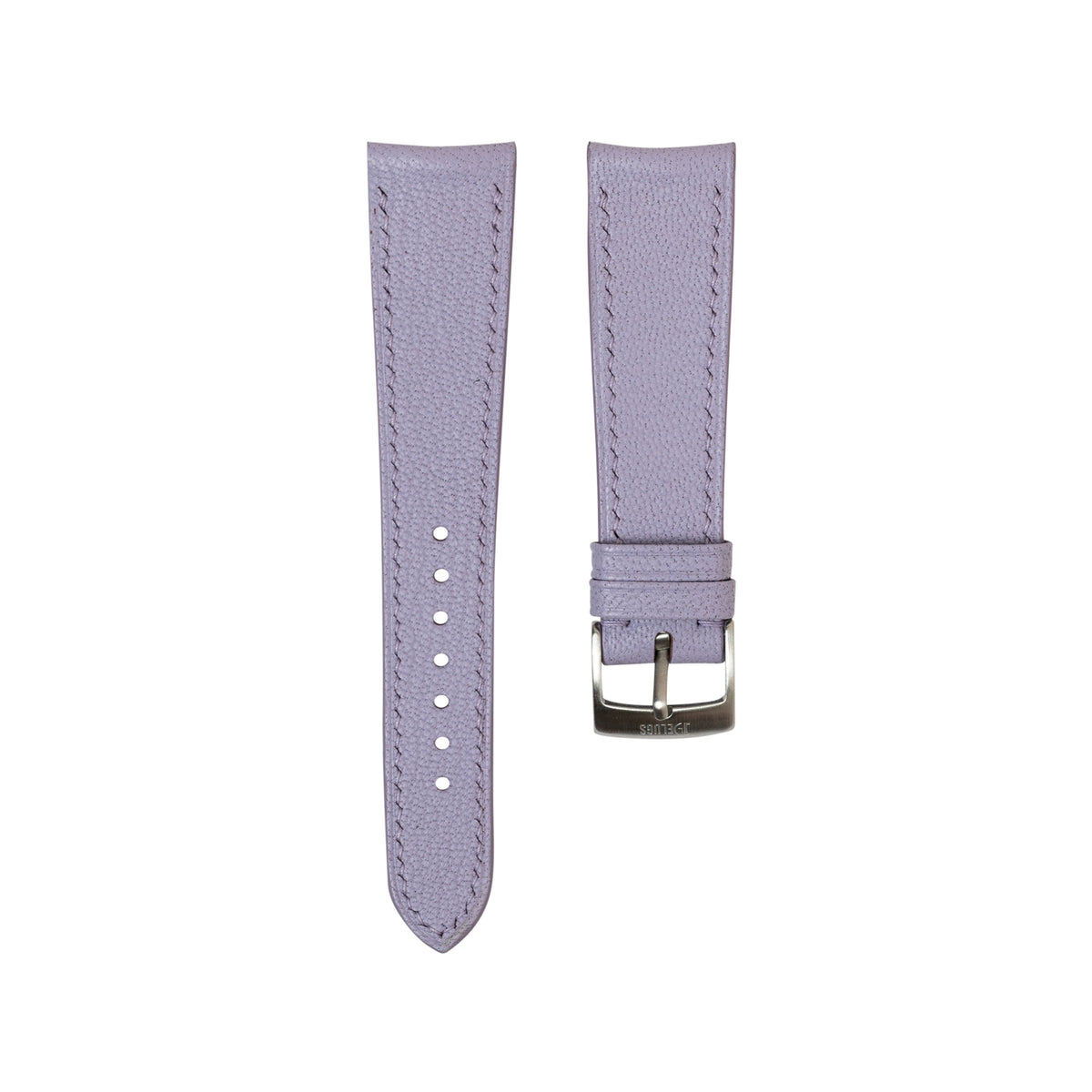 Lavender Chevre Slim (Curved) Strap