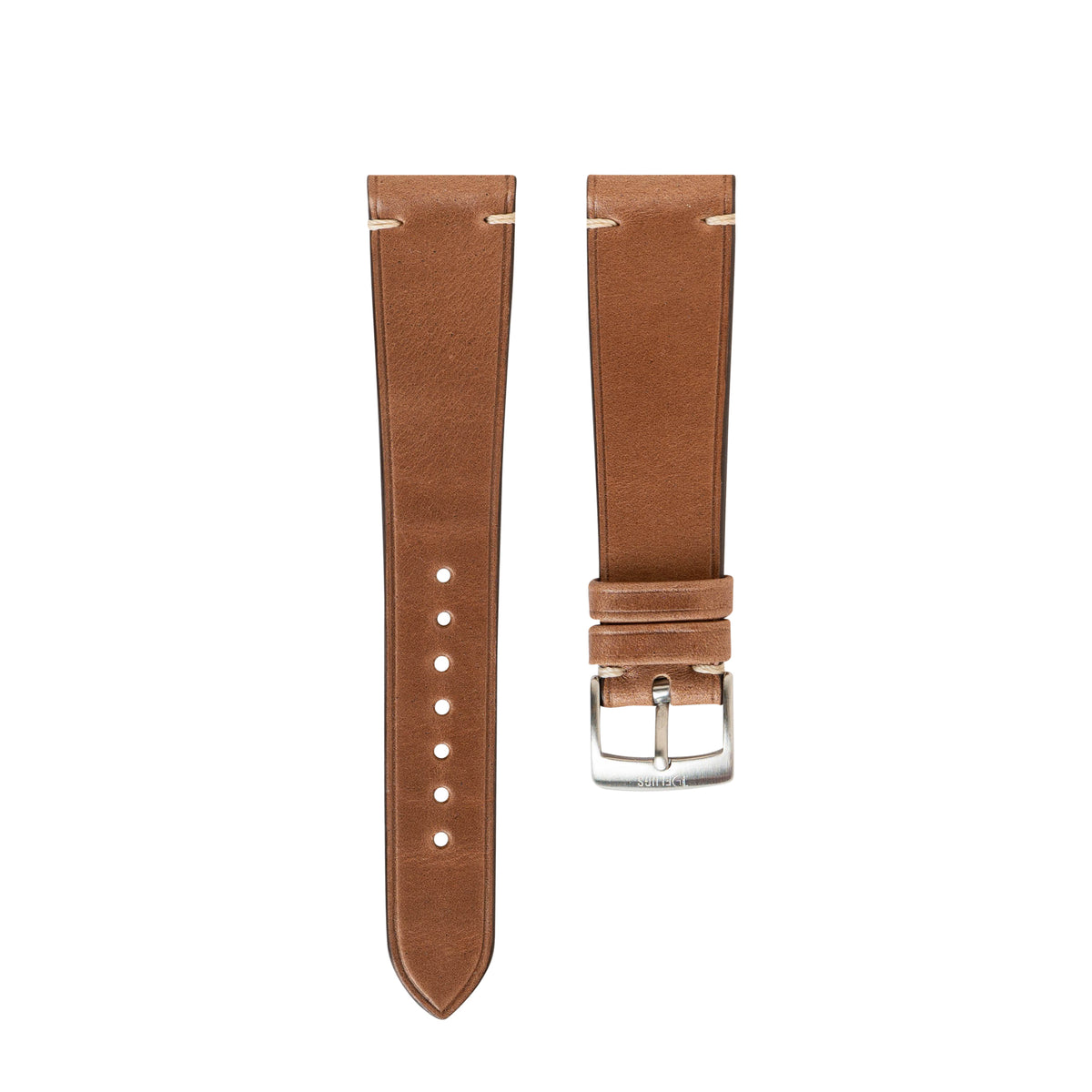 Natural Chromexcel Side-Stitch Strap