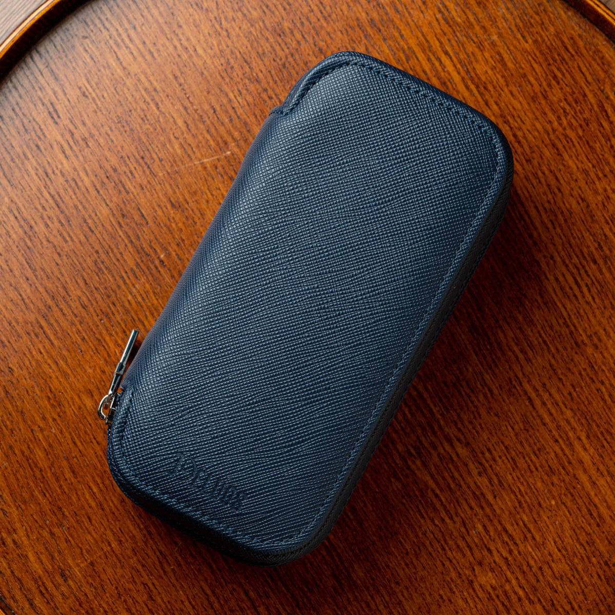 Zip Case Duo - Navy/Orange