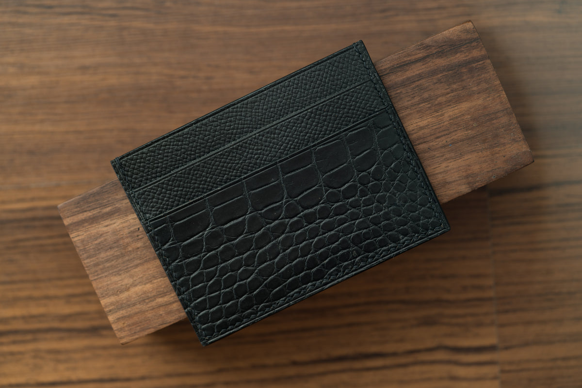 Epsom/Alligator Five-Slot Card Holder