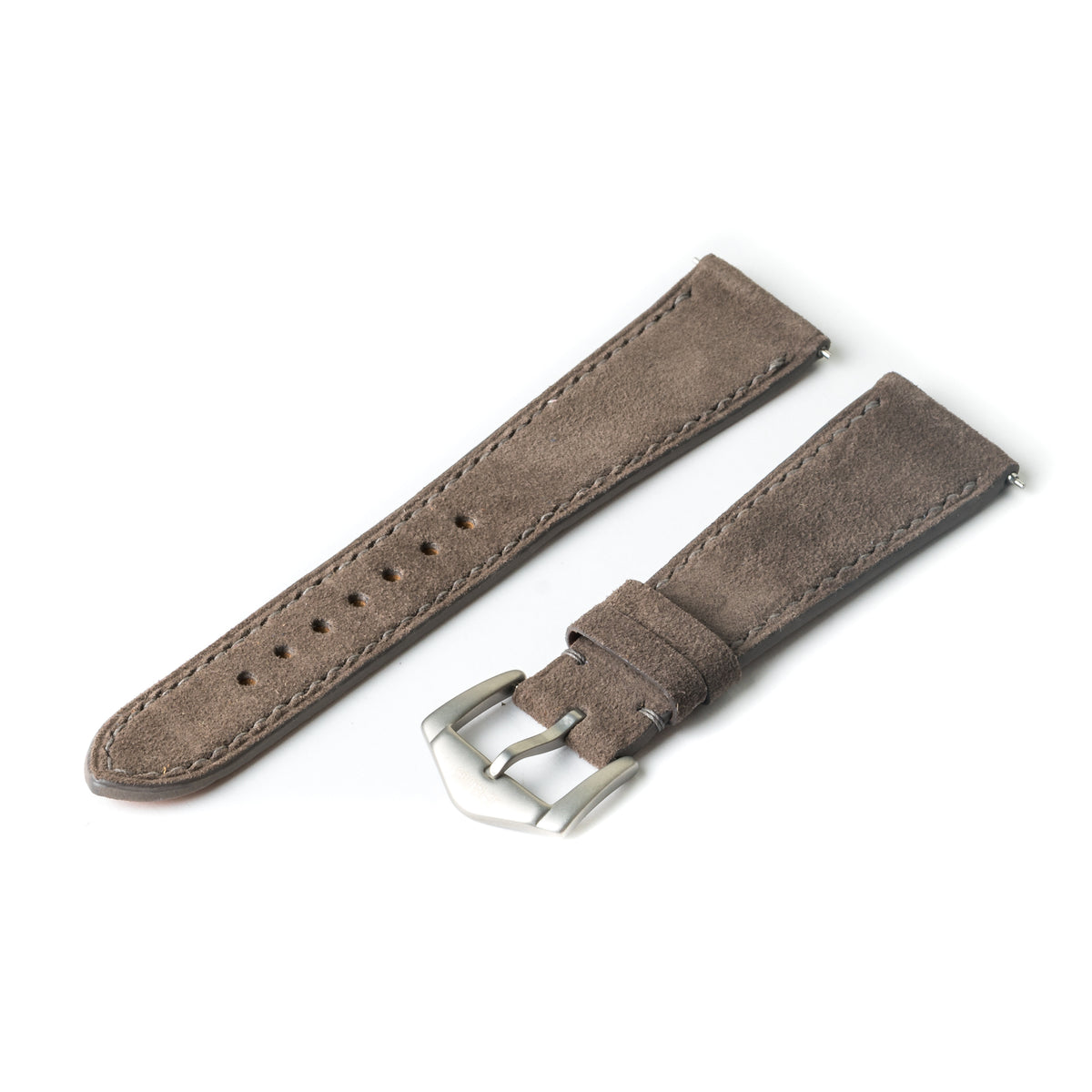 Elephant Grey Suede Slim Strap