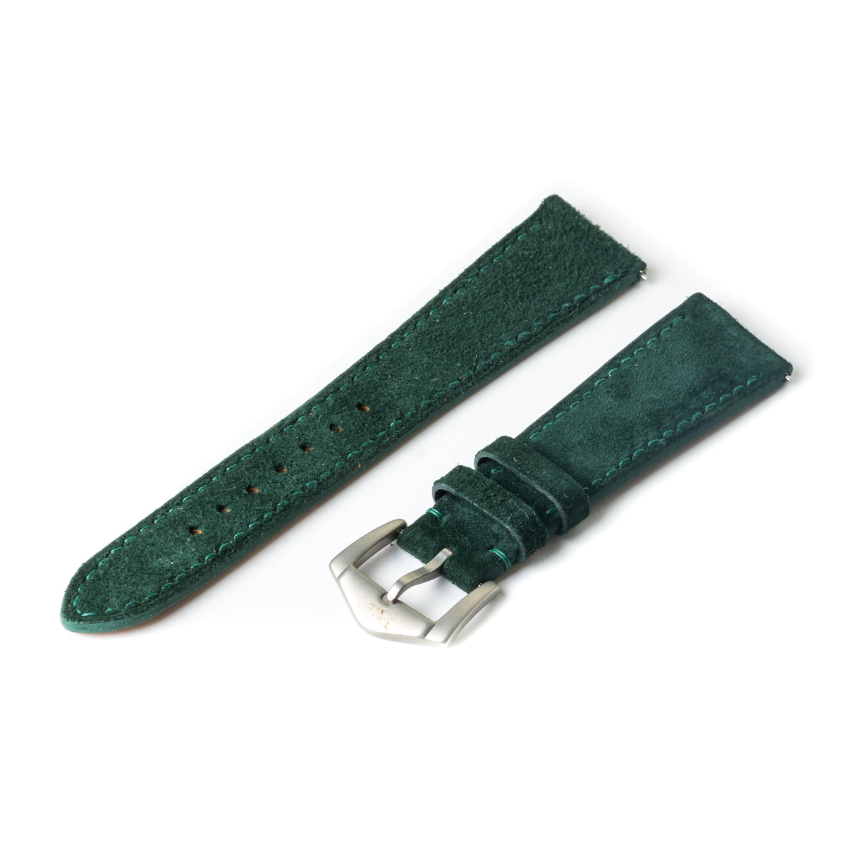 Dark Green Suede Slim Strap