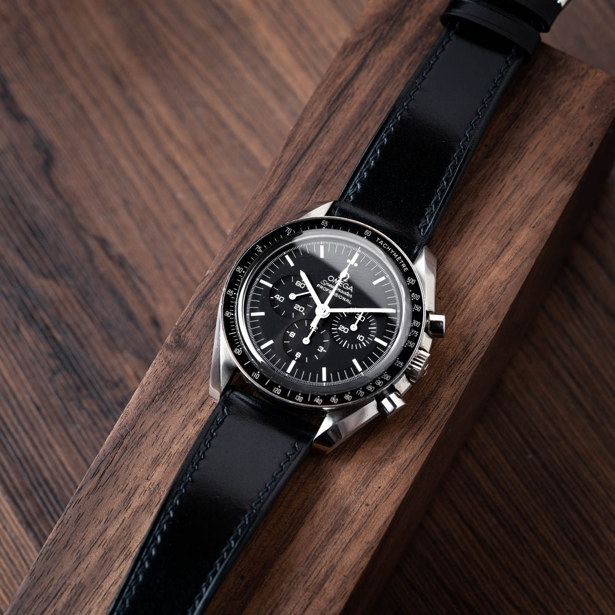 Black Shell Cordovan Slim Watch Strap