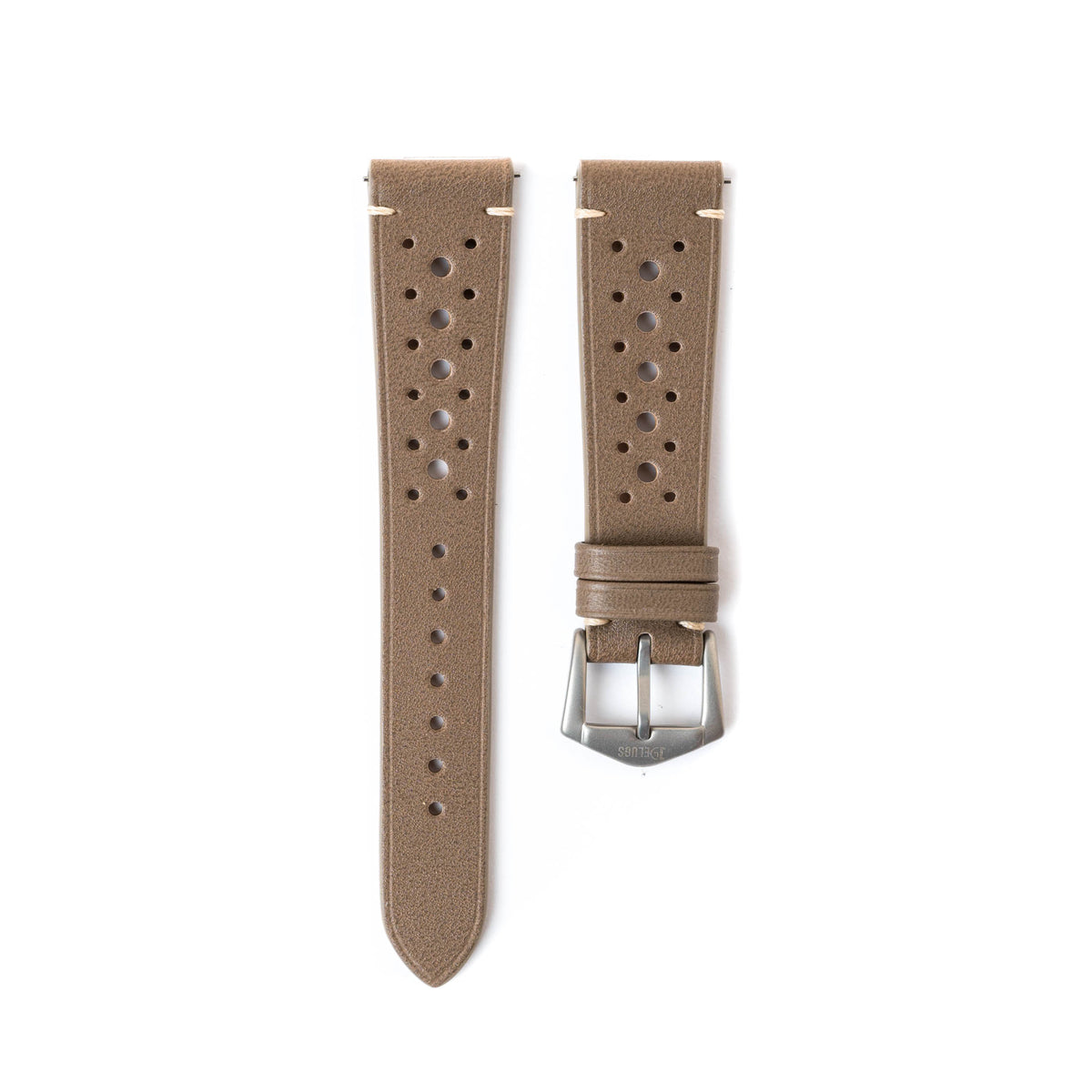 Taupe Epsom Smooth Rally Side-Stitch Strap