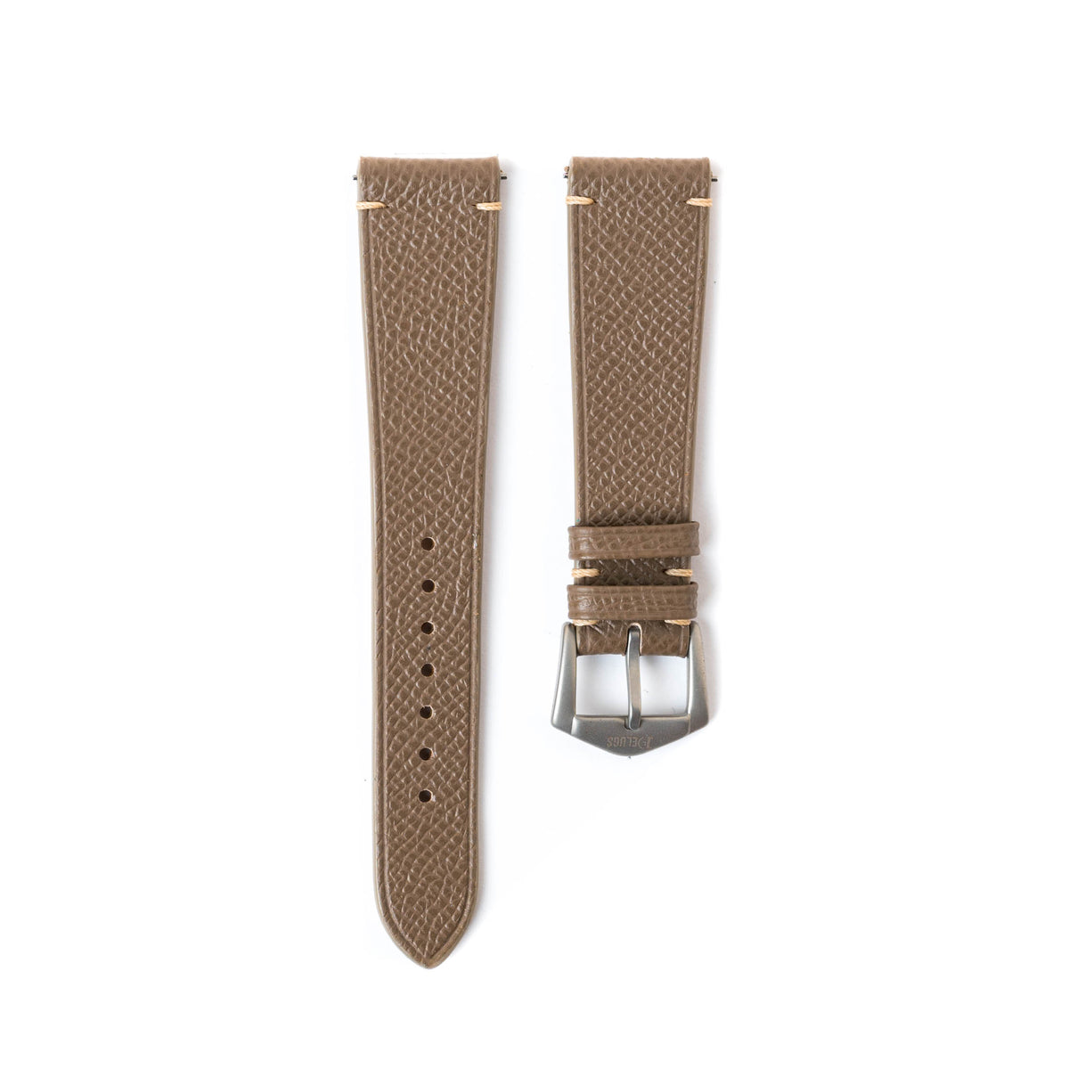 Taupe Epsom Side-Stitch Strap