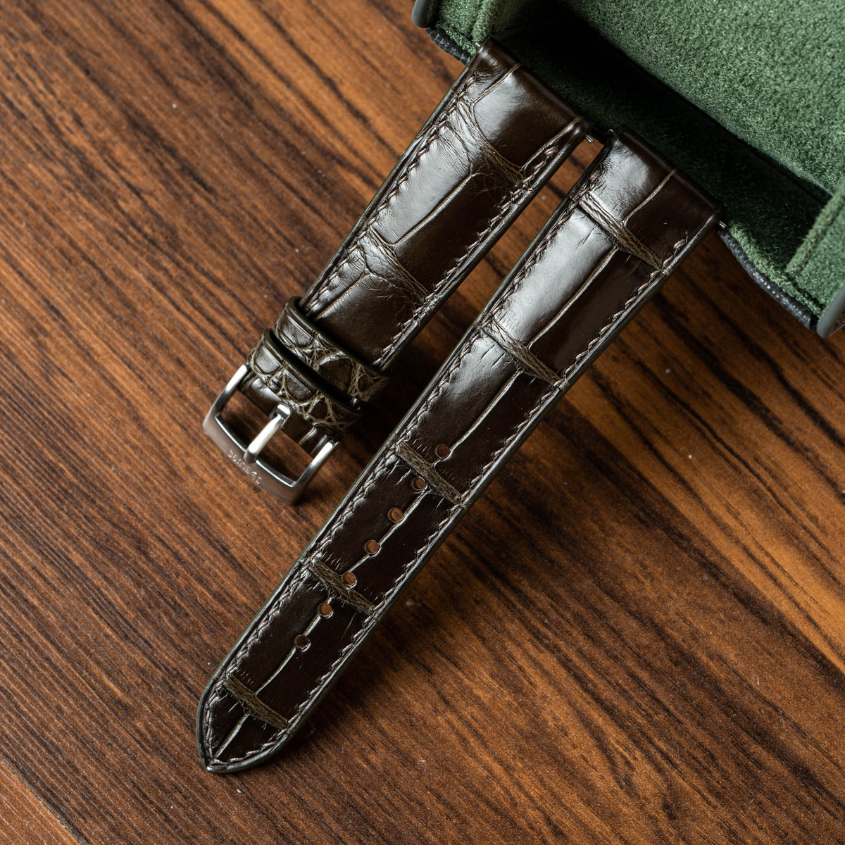 Millennium Graphite Alligator Signature Strap