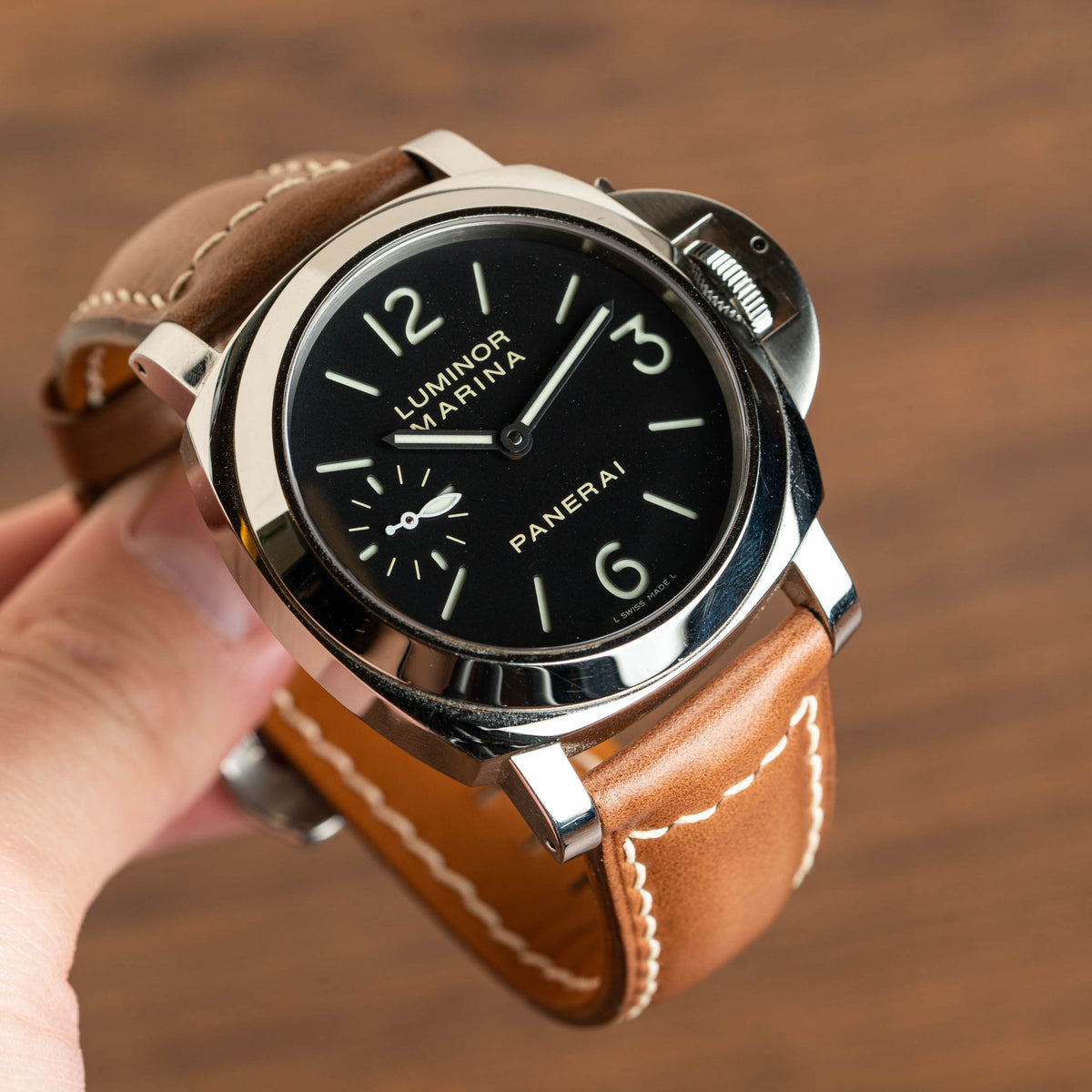 Whiskey Chromexcel Chunky Signature Strap (Panerai)