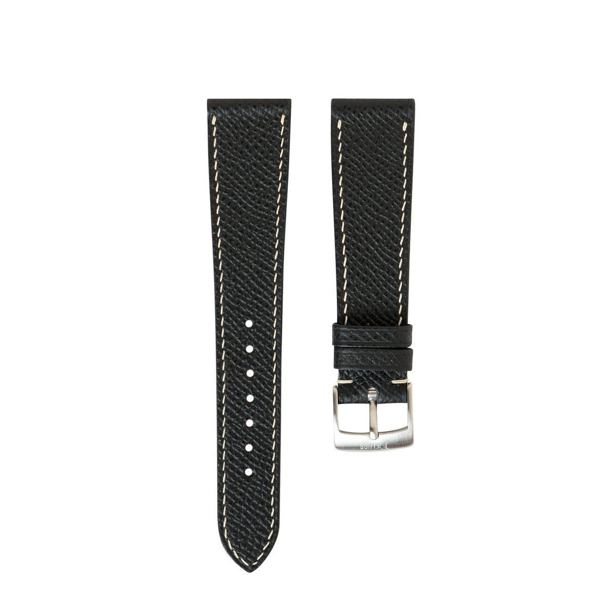 Black Epsom Slim Strap