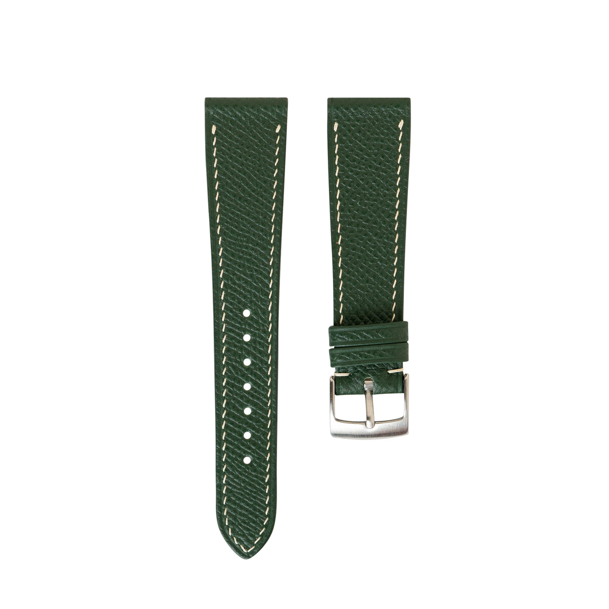 Hunter Green Epsom Slim Strap