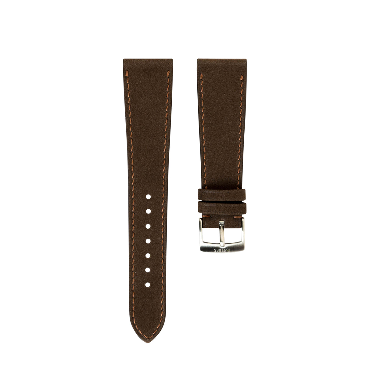 Dark Brown Nubuck Slim Strap