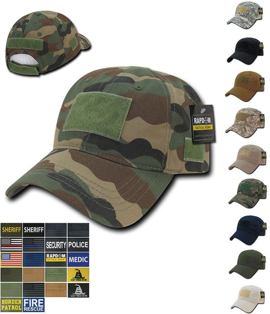1 Dozen 6 Panel Cotton Military Army Camouflage Relaxed Crown Caps Hats Wholesale Bulk