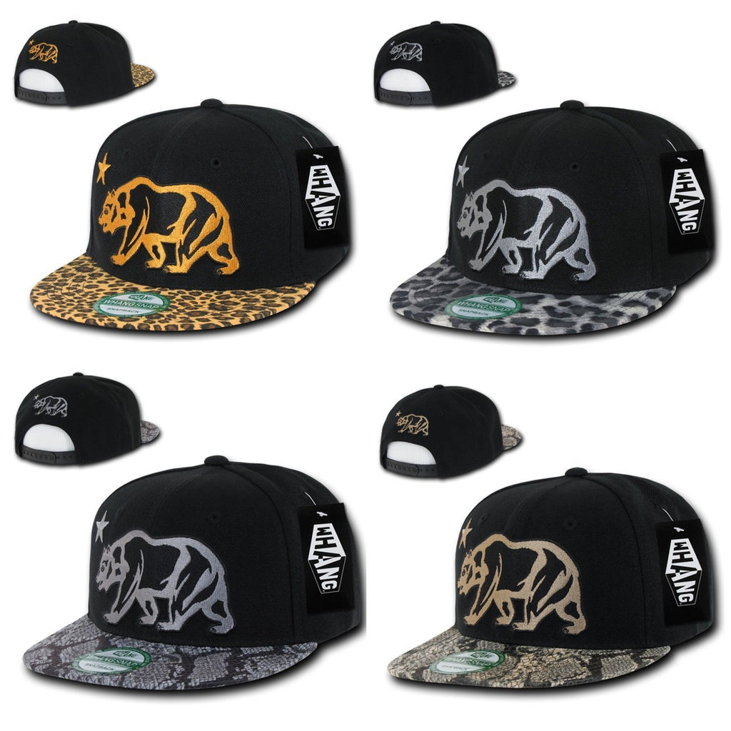 1 Dozen Animal Leopard Snake Skin Cali Republic Bear Snapback Hats  Wholesale Bulk 84def6deedc