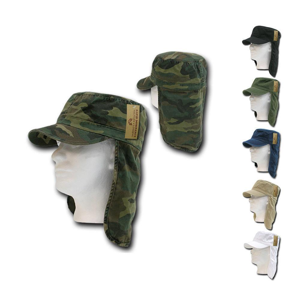 1 Dozen Bdu Foreign Legion Flap Flat Military Fishing Caps Cap Hats Wholesale Lots!