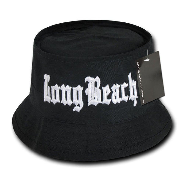 f48975e4f21 1 Dozen Compton Los Angeles Long Beach Fisherman Bucket Hats Cotton Wh –  Casaba Shop