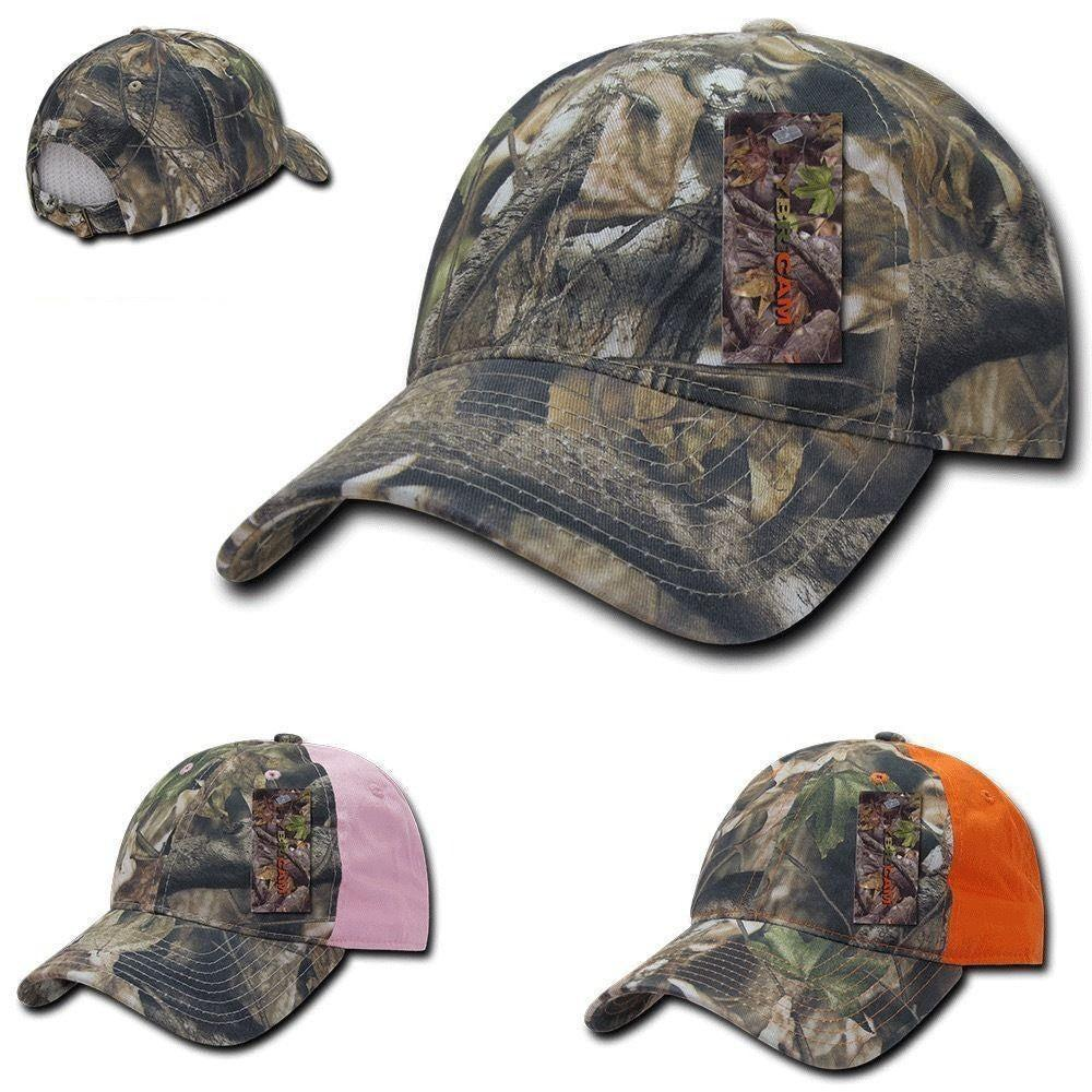 1 Dozen Decky 6 Panel Camo Relaxed Hybricam Pre Curved Cotton Cap Wholesale