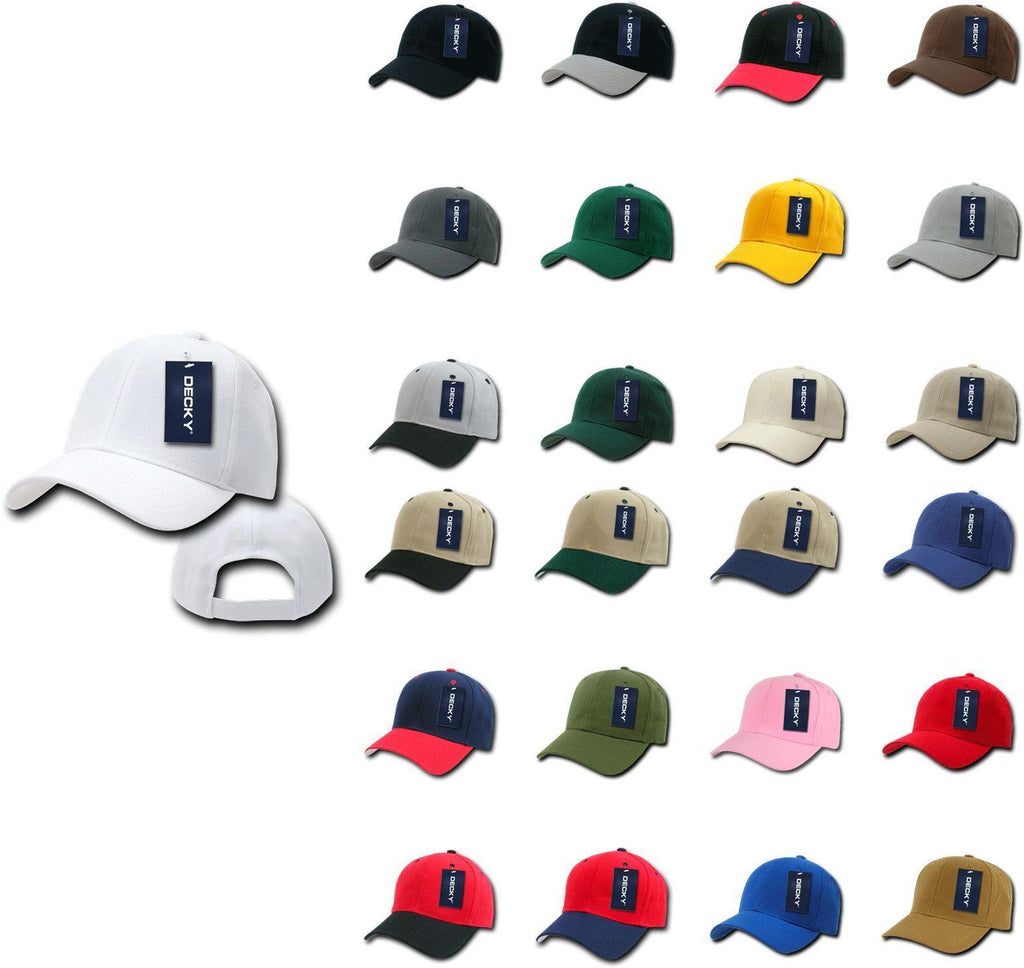 1 Dozen Decky Deluxe Polo Blank Baseball Hats Caps Hook And Loop Wholesale Lot