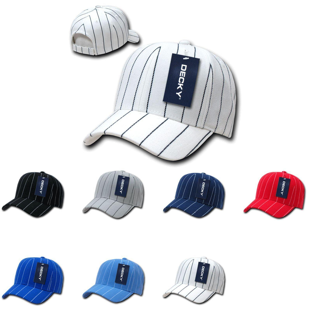 1 Dozen Decky Pin Striped Pinstriped Baseball Hat Caps Wholesale Lots