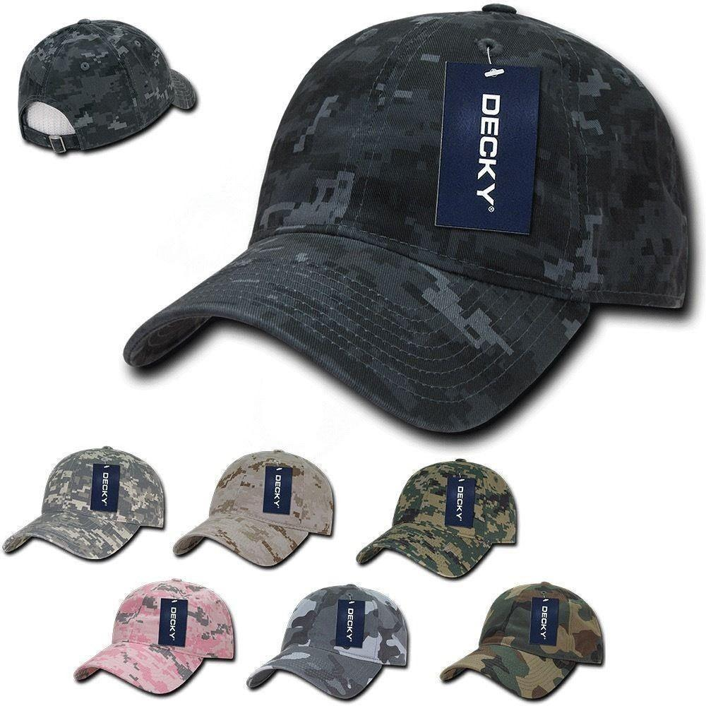 1 Dozen Decky Relaxed Cotton Camo Low Crown Dad Caps Hats Caps Wholesale