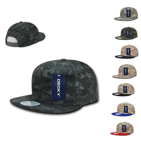 f93ab5182d244 1 Dozen Decky Snapback Army Flat Bill 6 Panel Camouflage Hats Caps Wholesale  Lot