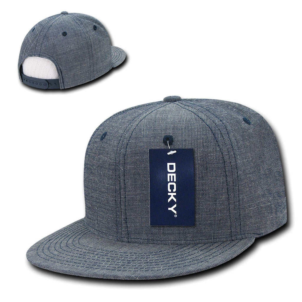 1 Dozen Decky Washed Denim Snapback 100% Cotton 6 Panel Hats Caps Wholesale Bulk