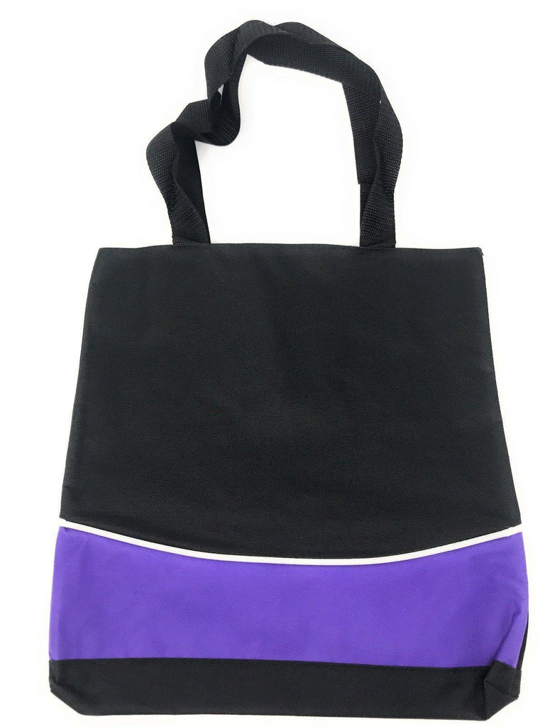 1 Dozen Fashion Two Tone Reusable Grocery Shopping Totes Bags Wholesale