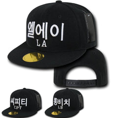 baae3d0ff20e98 1 Dozen Hangul City Logo In Korean 6 Panel Snapback Baseball Caps Hats  Wholesale