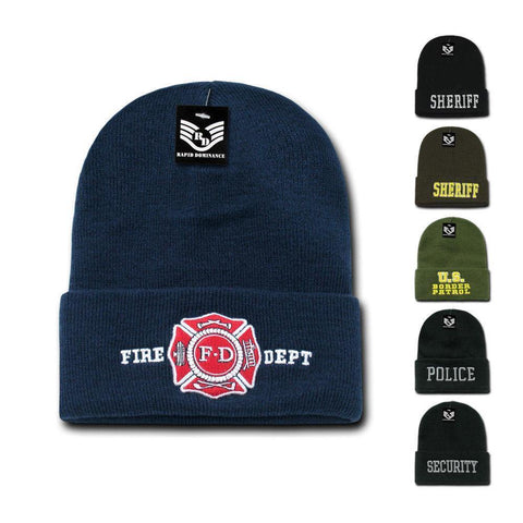 125a81a1f6ade Rapid Dominance 1 Dozen Police Fire Dept Security Sheriff Border Patrol  Long Cuffed Knit Beanies