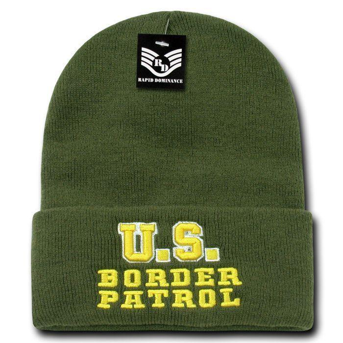 Rapid Dominance 1 Dozen Police Fire Dept Security Sheriff Border Patrol Long Cuffed Knit Beanies