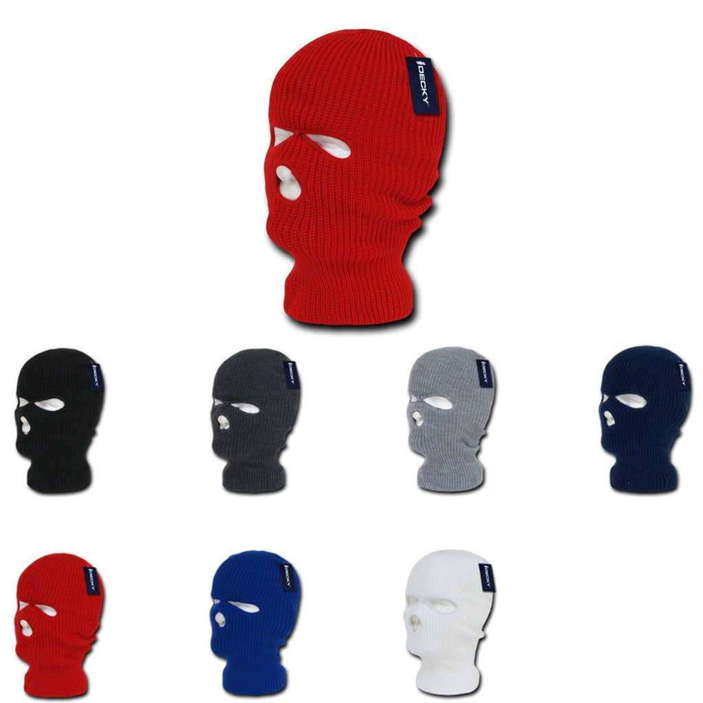 1 Dozen Tactical 3 Hole Face Masks Balaclava Beanies Wholesale Lots