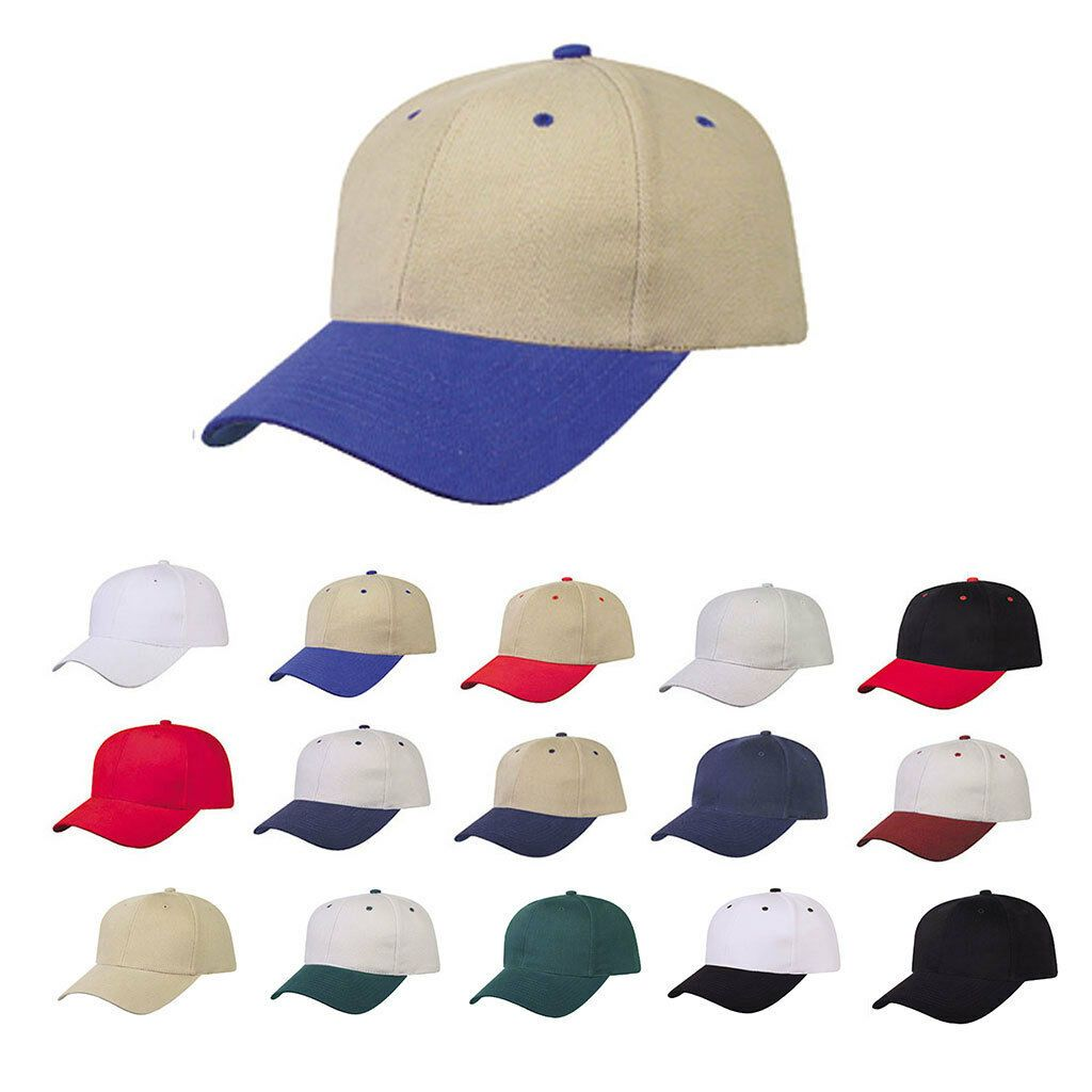 1 Dozen Heavy Brushed Cotton 6 Panel Low Crown Baseball Caps Hats Wholesale