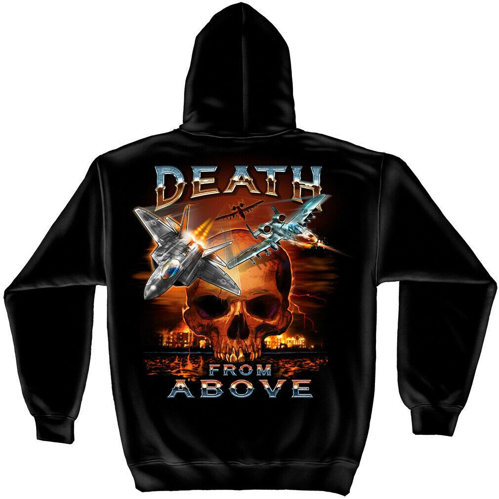 USA Military Death From Above Mens Hoodie Sweatshirt Black