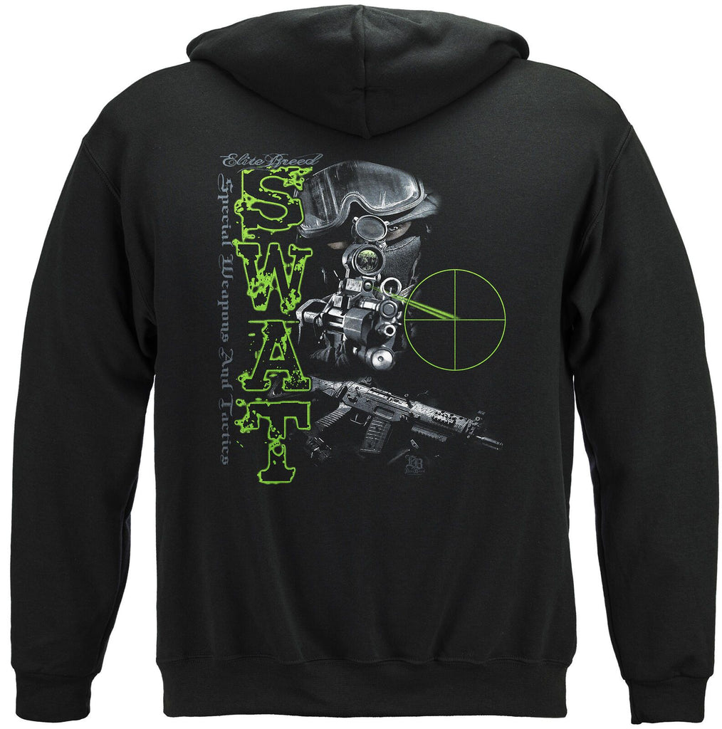 Elite Breed SWAT Special Weapons and Tactics Hoodie Sweatshirt Black
