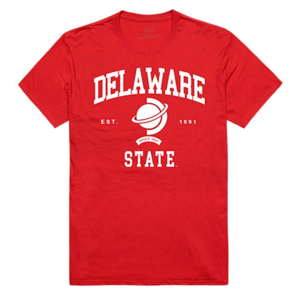 Delaware State University Hornet NCAA Seal Tee T-Shirt Red