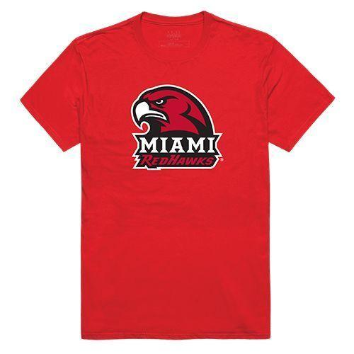 Miami University RedHawks NCAA Freshman Tee T-Shirt Red