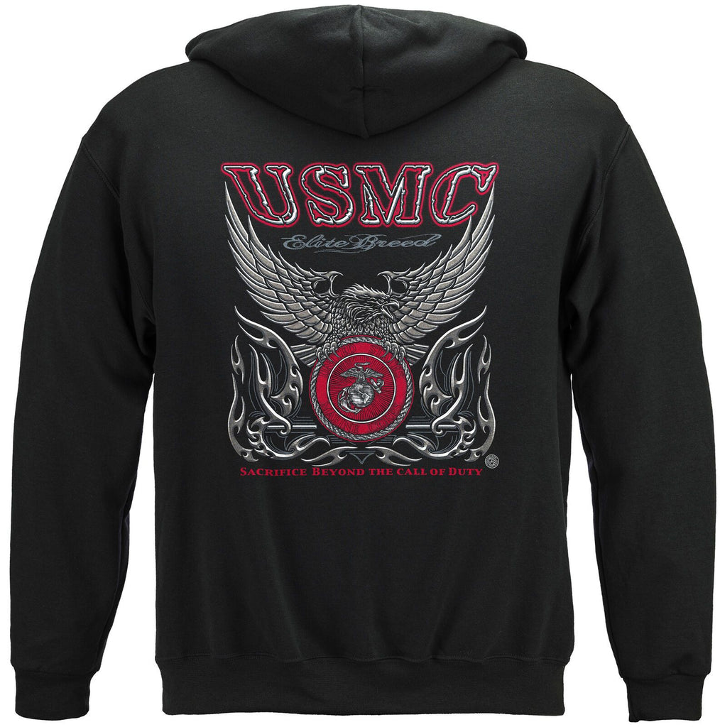 Elite Breed USMC Marine Corps Call of Duty Hoodie Sweatshirt Black