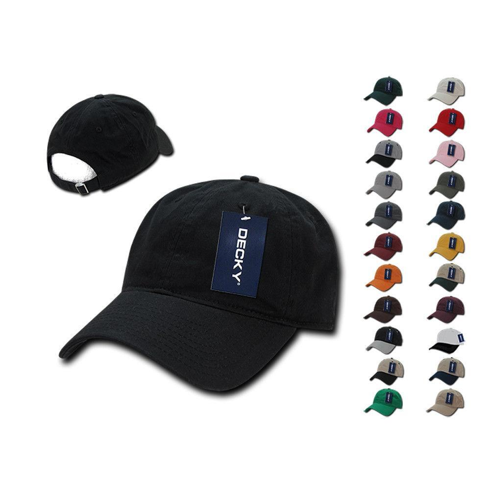 6 Lot Decky Washed Cotton Polo Low Crown 6 Panel Dad Caps Hats Wholesale  Lots 37ef0c650ce7