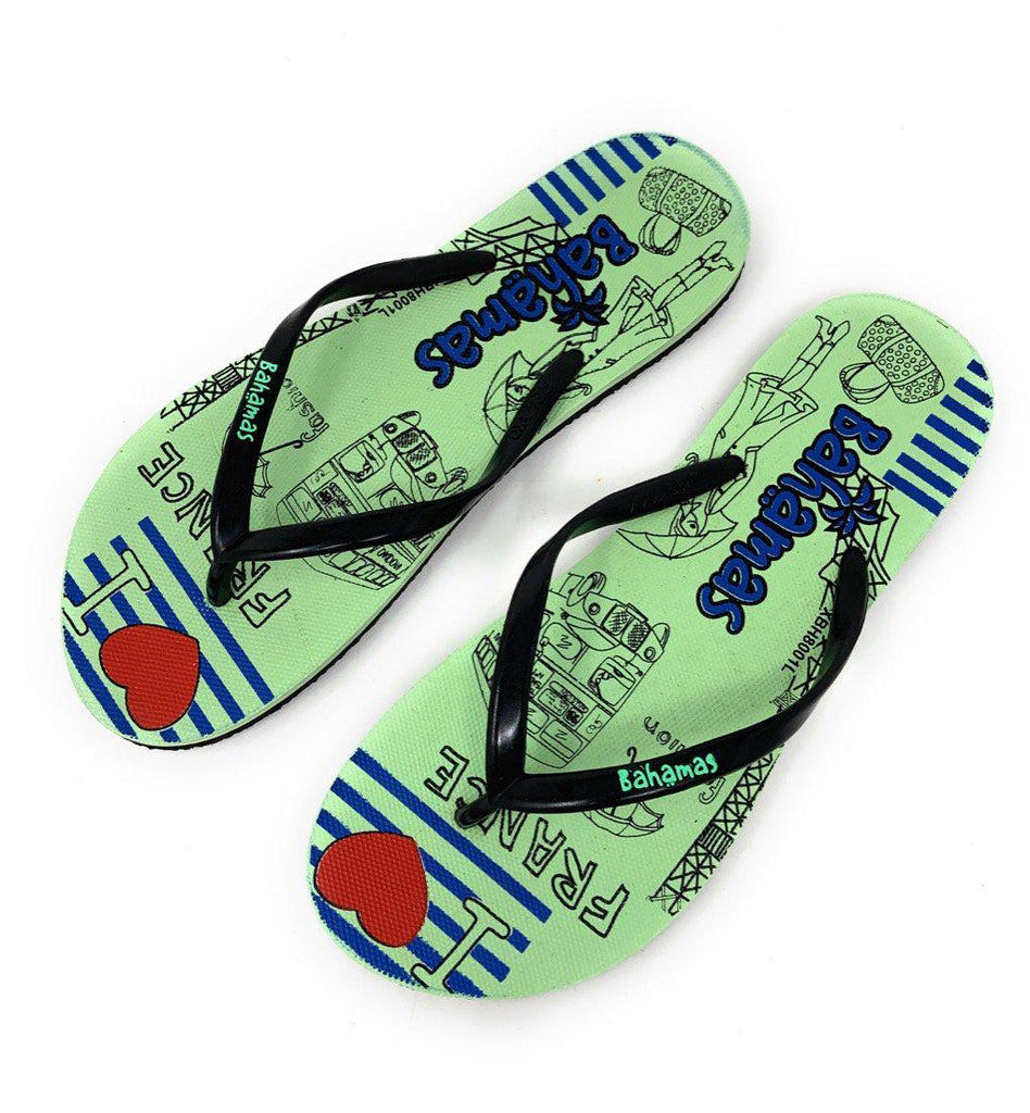 Bahamas Flip Flops Sandals Slippers for Women with Summer Fun Prints