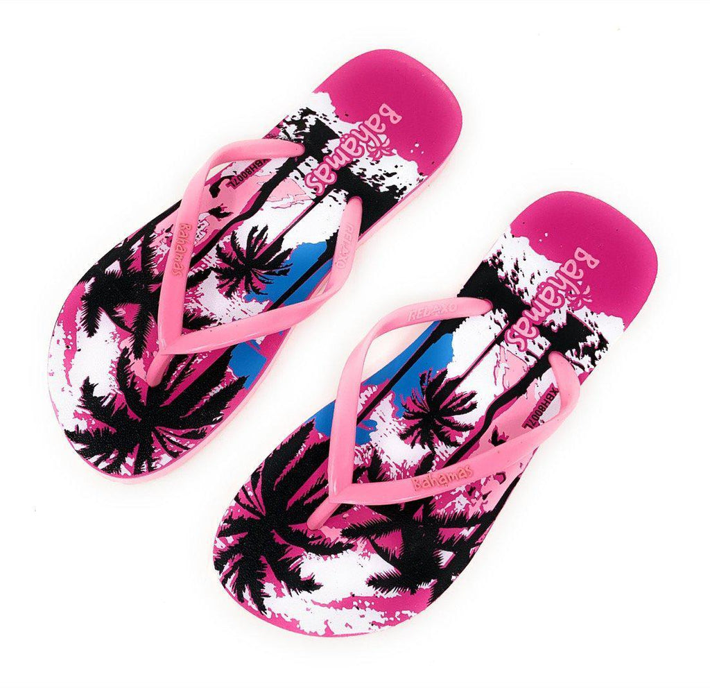 Bahamas Beach Flip Flops Sandals Slippers for Women with Summer Prints