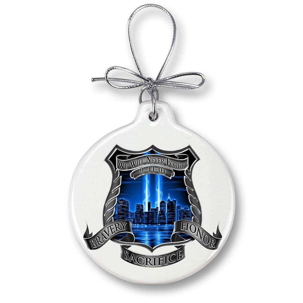 After Match 911 Police Christmas Tree Ornaments