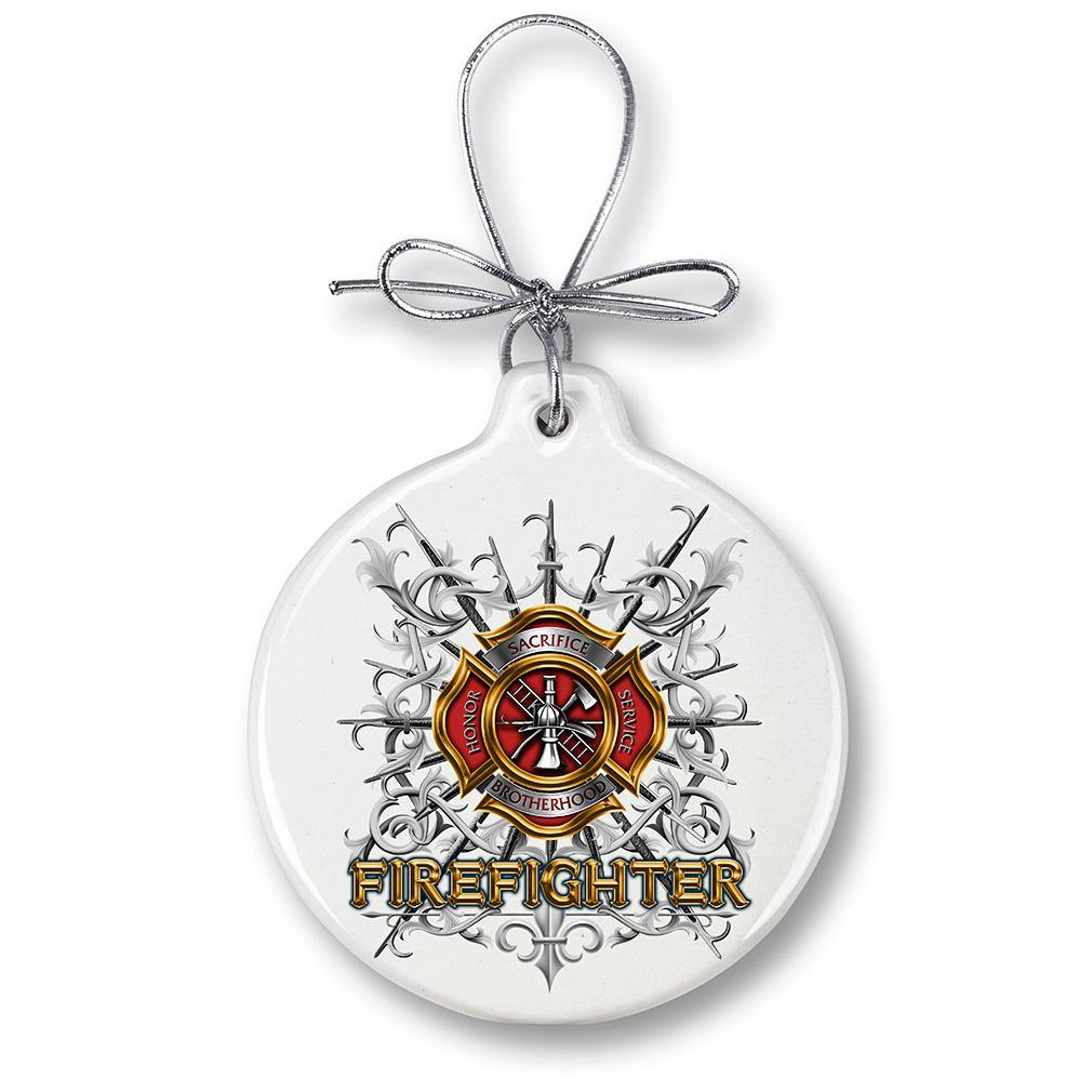 Firefighter Pikes Christmas Tree Ornaments