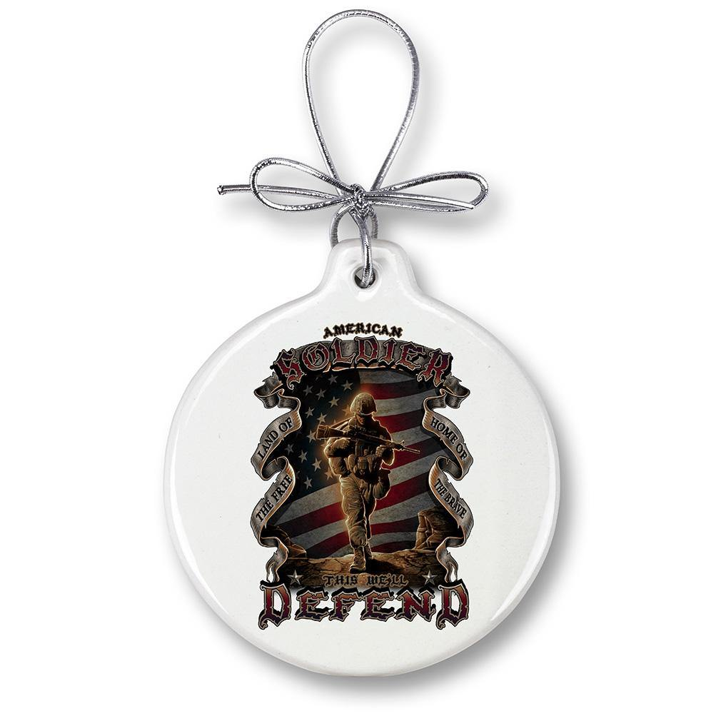 American Soldier Christmas Tree Ornaments