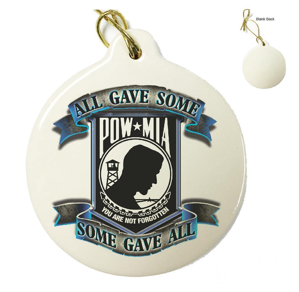 POW All Gave Some Blue Christmas Tree Ornaments