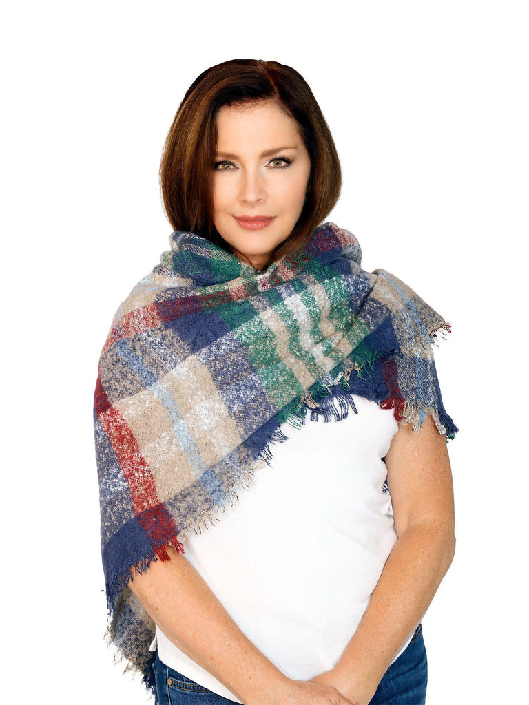Casaba Rustic Style Plaid Scarves Scarf Wraps Shawls Womens Unisex Warm Winter