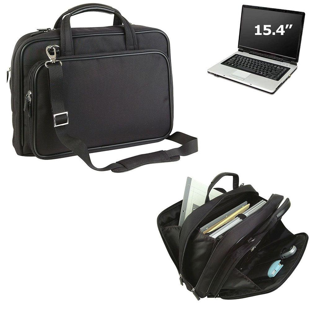Computer Laptop Bag Case Briefcase Zippered Pockets Organizer Work School 15inch