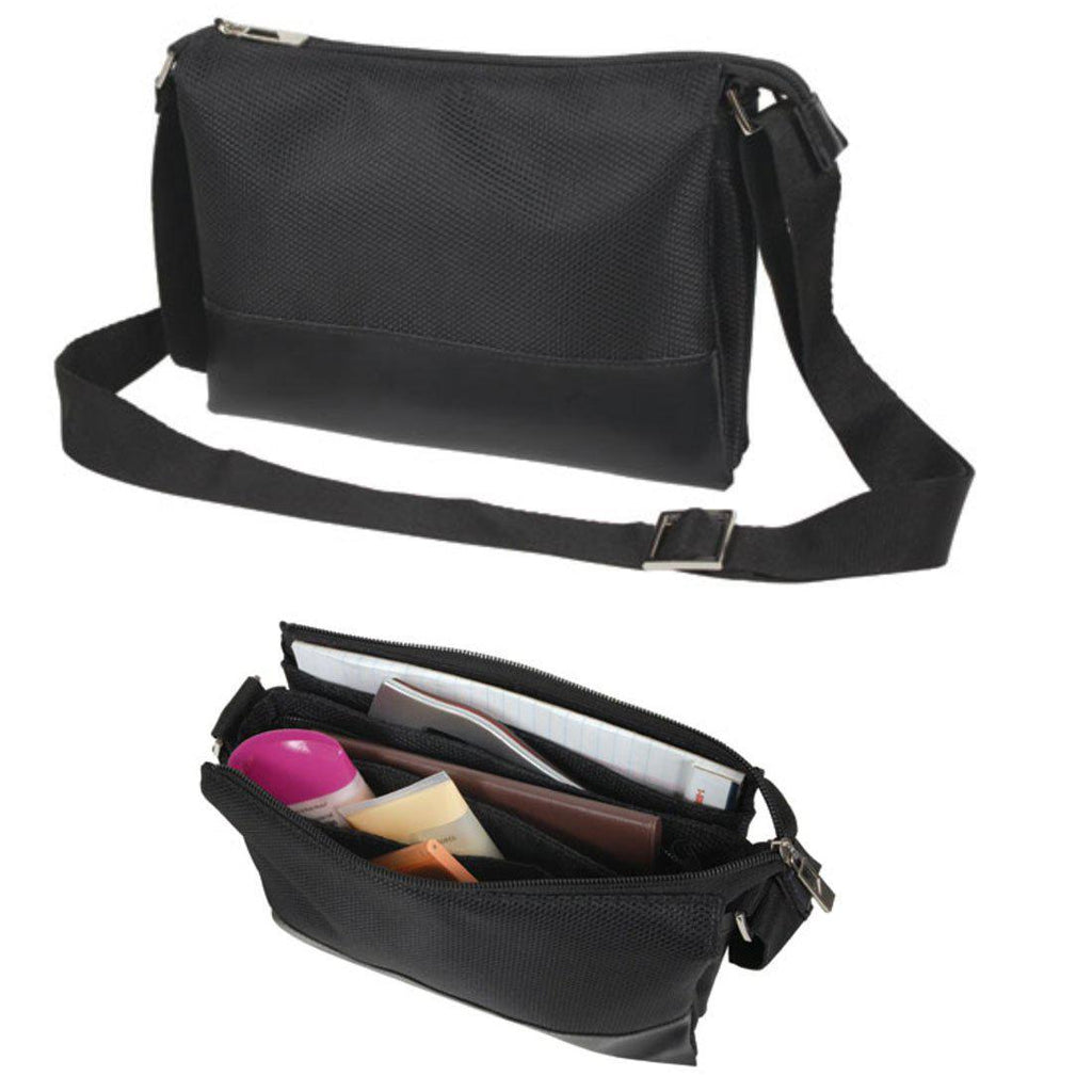 Small Women Bag Shoulder Strap Travel Pouch Purse Multi Pockets Organizer Bag