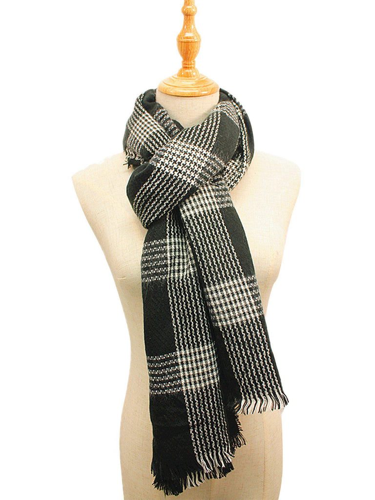 Casaba Blanket Style Striped Scarves Warm Winter Wraps Shawls Unisex Mens Womens